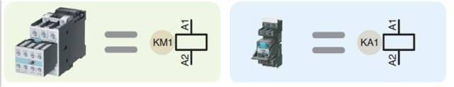 Símbolo Contactor y Relé