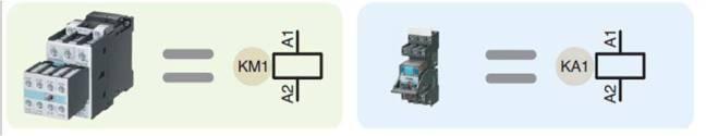 Símbolos Relé y Contactor