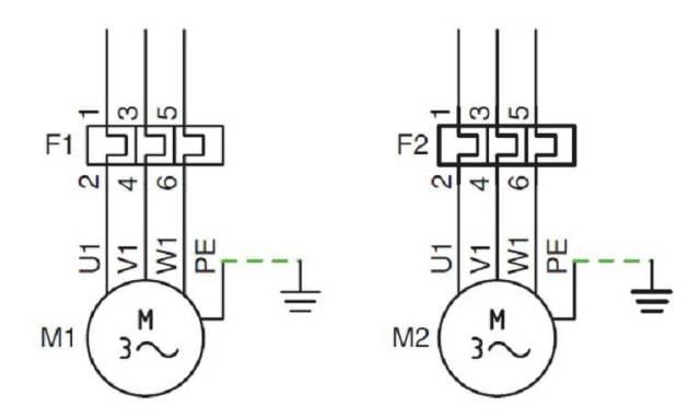 Relé térmico esquema de fuerza