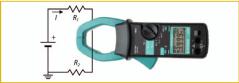 Medición de intensidad Pinza amperimétrica.
