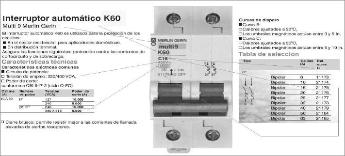 El interruptor autom tico curso instalador baja tensi n - Interruptor general automatico ...