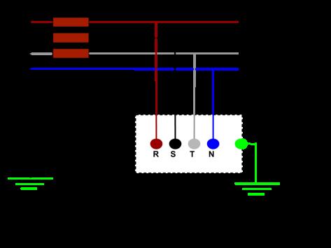 Sistema de distribución eléctrica TT
