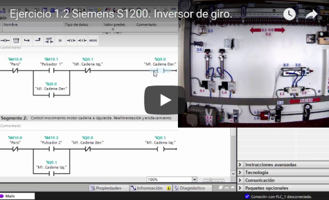Curso TIA PORTAL. Siemens S1200. Video 10